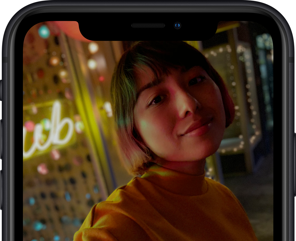 iPhone XR's TrueDepth camera creates amazing portraits.