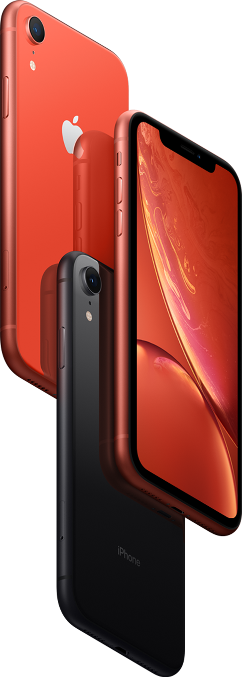 iPhone XR comes in six stunning colours.