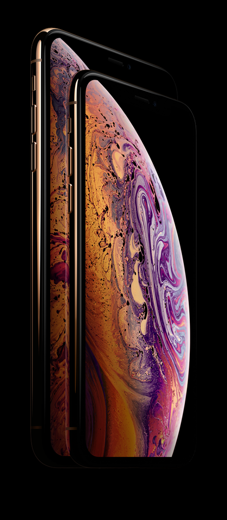 The iPhone XS and XS Max Super Retina display.